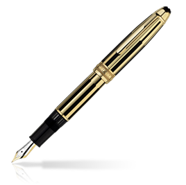Classic Montblanc Meisterstuck Solitaire Gold & Black Fountain P [2ffe]